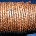 Fonott bőrszíj - 4 mm (2. minta/0,5 m) - antik sötétbarna, , Bőrművesség, Ékszerkészítés, Fonott bőrszíj - 4 mm (2. minta/0,5 m) - antik sötétbarna Valódi bőr alapanyagból készült fonott he..., Alkotók boltja