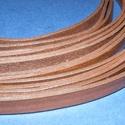 Hasított lapos bőrszíj (11. minta/1 db) - sötétbarna, , Bőrművesség, Ékszerkészítés, Hasított lapos bőrszíj (11. minta/1 db) - sötétbarna Mérete: 10x2 mm Hossza: 100-110 cm Valódi hasí..., Alkotók boltja