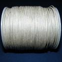 Hasított bőrszíj - 1,5 mm (18. minta/1 m) - ezüstszürke, , Bőrművesség, Ékszerkészítés, Hasított bőrszíj - 1,5 mm (18. minta/1 m) - ezüstszürke Mérete: 1,5 mm  Valódi hasított marhabőrből..., Alkotók boltja