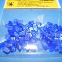 Ásványgyöngy-43 (100 db) - ulexit (sötétkék), Gyöngy, ékszerkellék, Ásványgyöngy-43 - ulexit (sötétkék)  Mérete: 5-15 mm  A csomag 100 db ásványgyöngyöt tart..., Alkotók boltja