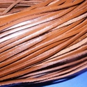Lapos bőrszíj - 3x2 mm (8. minta/1 m) - barna, Gyöngy, ékszerkellék, Egyéb alkatrész, Lapos bőrszíj (8. minta) - tekercses - szögletes - barna  Mérete: 3x2 mm átmérőjű  Valódi hasított m..., Alkotók boltja
