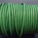 Hasított bőrszíj - 5 mm (15. minta/1 m) - zöld (AKCIÓS), Gyöngy, ékszerkellék, Egyéb alkatrész, Hasított bőrszíj (15. minta) - zöld - AKCIÓS  Mérete: 5 mm átmérőjű Valódi hasított marhabőrből kész..., Alkotók boltja