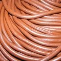 Hasított bőrszíj - 3 mm (5. minta/1 m) - csokoládé, Gyöngy, ékszerkellék, Egyéb alkatrész, Hasított bőrszíj (5. minta) - tekercses - csokoládé  Mérete: 3 mm átmérőjű Valódi hasított marhabőrb..., Alkotók boltja