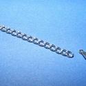 Nemesacél lánchosszabbító (STAS-36 minta/1 db), , Ékszerkészítés, Szerelékek, Nemesacél lánchosszabbító (STAS-36 minta/1 db) - 46x3 mm Nemesacél (304 Stainless Steel) termék  Mé..., Alkotók boltja