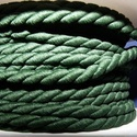 Sodrott zsinór - 4 mm (ZS101/2 m) - sötétzöld, Fonal, cérna, Ékszerkészítés, Kötés, horgolás, Sodrott zsinór (ZS101) - sötétzöld - matt  Színes nylon sodrott zsinór Ajánlott karkötők, nyaklánco..., Alkotók boltja