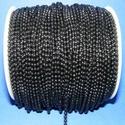 Golyós lánc - 2 mm (festett/1 m) - fekete, Gyöngy, ékszerkellék, Egyéb alkatrész, Golyós lánc - festett fekete színben  A szem mérete: 2 mm  Javasolt csatlakozó kapocs: 332/F mi..., Alkotók boltja