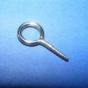 Szemes csavar 20mm (K-73minta/5 db) , Gyöngy, ékszerkellék, Gyurma, Ékszerkészítés, Gyurma, Szerelékek, Szemes csavar (1061/K-73minta)  Mérete,hossza kb.20 mm A fej átmérő kb. 9mm Belső méret: 6 mm A huz..., Alkotók boltja