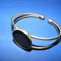 Fém karkötő alap (3. minta/1 db) - bronz, Díszíthető tárgyak, Fém karkötő alap (3. minta) - egy tárcsás - bronz színben Nikkel-, kadmium-, ólommentes  Kark..., Alkotók boltja