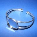 Fém karkötő alap (4. minta/1 db) - ezüst, Díszíthető tárgyak, Ékszerkészítés, Fém karkötő alap (4. minta) - egy tárcsás - ezüst színben Nikkel-, kadmium-, ólommentes  Karkötő mé..., Alkotók boltja