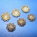 Gyöngykupak (3. minta/4 db) - 11 mm, Gyöngy, ékszerkellék, Egyéb alkatrész,  Gyöngykupak (3. minta) - arany színben  Mérete: 11 mm  Az ár 4 darab termékre vonatkozik.  , Alkotók boltja