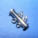 Csőkapocs (331/B minta/1 db) - 2 soros, Gyöngy, ékszerkellék,  Csőkapocs (331/B minta) - 2 soros - nem mágneses - nikkel színben  Mérete: 11,5x17,5x6 mm  Az ár 1 ..., Alkotók boltja