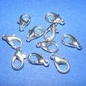 Delfinkapocs (300/B minta/1 db) - 14x8 mm, Gyöngy, ékszerkellék,  Delfinkapocs (300/B minta) - ezüst színben  Mérete: 14x8 mm  Az ár 1 darab termékre vonatkozik..., Alkotók boltja