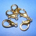 Delfinkapocs (316/B minta/1 db) - 18x10 mm, Gyöngy, ékszerkellék, Ékszerkészítés,  Delfinkapocs (316/B minta) - arany színben  Mérete: 18x10x4 mmAz akasztó belső mérete: 2 mm  Az ár..., Alkotók boltja