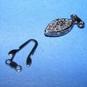Halszem kapocs (343/C minta/1 db), Gyöngy, ékszerkellék,  Halszem kapocs (343/C minta) - platinum  színben  Mérete: 12x6 mm  Az ár 1 darab termékre vonat..., Alkotók boltja