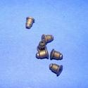 Fülbevaló hátsó rögzítő (281. minta/10 db), Gyöngy, ékszerkellék,  Fülbevaló hátsó rögzítő (281. minta) - gumibetétes - bronz színű  Mérete: 6x5 mm  A termékeim közöt..., Alkotók boltja