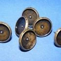 Fülbevaló alap (253/A minta/2 db), Gyöngy, ékszerkellék, Ékszerkészítés,  Fülbevaló alap (253/A minta) - stiftes - bronz színben  Mérete: 12 mm (a belméret: 10 mm); a tüske..., Alkotók boltja