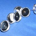 Fülbevaló alap (254/E minta/2 db), Gyöngy, ékszerkellék, Ékszerkészítés,  Fülbevaló alap (254/E minta) - stiftes - platinum színben  Mérete: 10 mm (a belméret: 8 mm); a tüs..., Alkotók boltja