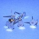 Fülbevaló alap (261/A minta/10 db), Gyöngy, ékszerkellék, Ékszerkészítés,  Fülbevaló alap (261/A minta) - stiftes - plantinum színben  Mérete: 7 mm; a tüske mérete: 12 mm H..., Alkotók boltja