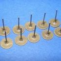 Fülbevaló alap (262. minta/10 db), Gyöngy, ékszerkellék, Ékszerkészítés,  Fülbevaló alap (262. minta) - stiftes - bronz színben  Mérete: 8 mm; a tüske mérete: 12 mm Hozzáv..., Alkotók boltja