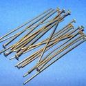 Szerelőpálca (1055. minta/20 db) - 50 mm, Gyöngy, ékszerkellék,  Szerelőpálca (1055. minta) - antik bronz színben - talpas  Mérete: 50 mm Az ár 20 db termékr..., Alkotók boltja