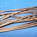 Szerelőpálca (1057. minta/20 db) - 50 mm, Gyöngy, ékszerkellék,  Szerelőpálca (1057. minta) - vörösréz színben - talpas  Mérete: 50 mm Az ár 20 db termékr..., Alkotók boltja
