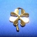 Medál (713/A minta/1 db) - lóhere, Gyöngy, ékszerkellék, Ékszerkészítés,  Medál (713/A minta) - lóhere - antik arany színben  Mérete: 22x15x2 mm Az ár 1 db termékre vonatk..., Alkotók boltja