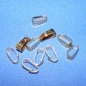 Medálvezető (356/E minta/1 db), Gyöngy, ékszerkellék,  Medálvezető (356/E minta) - arany színben  Mérete: 7x2 mm (felül); 2 mm (alul) Az ár 1 db me..., Alkotók boltja