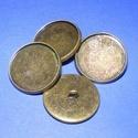 Gomb alap (154. minta/1 db), Gomb, Varrás,  Fém gomb alap (154. minta) - antik bronz színben  A gomb mérete: 22 mmHozzáillő üveglencse mérete:..., Alkotók boltja