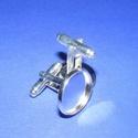 Mandzsettagomb alap (158. minta/2 db), Gomb,  Mandzsettagomb alap (158. minta) - ezüst színben  A gomb mérete: 24 mm (a teljes hosszúság) A..., Alkotók boltja