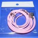 Bőrutánzat nyaklánc alap (14. minta/1 db) - rózsaszín, Gyöngy, ékszerkellék,  Bőrutánzat nyaklánc alap (14. minta) - rózsaszínA szerelékek nikkel színűek.A nyaklánc hos..., Alkotók boltja