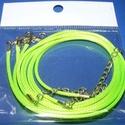 Bőrutánzat nyaklánc alap (21. minta/1 db) - zumbazöld, Gyöngy, ékszerkellék,  Bőrutánzat nyaklánc alap (21. minta) - zumbazöldA szerelékek nikkel színűek.A nyaklánc hoss..., Alkotók boltja
