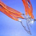 Organza nyaklánc alap (14. minta/1 db) - narancssárga, Gyöngy, ékszerkellék,  Organza nyaklánc alap (14. minta) - narancssárgaNyaklánc alap szerelt: nikkel színű kapoccsal ..., Alkotók boltja