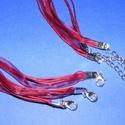 Organza nyaklánc alap (15. minta/1 db) - bordó, Gyöngy, ékszerkellék,  Organza nyaklánc alap (15. minta) - bordóNyaklánc alap szerelt: nikkel színű kapoccsal és lá..., Alkotók boltja