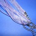 Organza nyaklánc alap (2. minta/1 db) - levendula, Gyöngy, ékszerkellék,  Organza nyaklánc alap (2. minta) - levendulaNyaklánc alap szerelt: nikkel színű kapoccsal és l..., Alkotók boltja