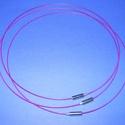 Sodrony nyaklánc alap (10. minta/1 db) - lila, Gyöngy, ékszerkellék,  Sodrony nyaklánc alap (10. minta) - lilaSodrony (tigrisbajusz) nyaklánc alap, szerelt, praktikus ..., Alkotók boltja