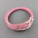 Sodrony nyaklánc alap (19. minta/1 db) - rózsaszín, Gyöngy, ékszerkellék,  Sodrony nyaklánc alap (19. minta) - rózsaszínSodrony (tigrisbajusz) nyaklánc alap, szerelt, pra..., Alkotók boltja