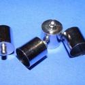 Bőrvég (434/P minta/1 db) - 16x14 mm, Gyöngy, ékszerkellék,  Bőrvég és szalagvég (434/P minta) - platinum színben  Mérete: 16x14 mm Belső átmérő: 13,5 mm  Az ár..., Alkotók boltja