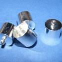 Bőrvég (434/S11. minta/1 db) - 15x12 mm, Gyöngy, ékszerkellék,  Bőrvég és szalagvég (434/S11. minta) - ezüst színben  Mérete: 15x12 mm (belső átmérő: 11,5 mm)  Az ..., Alkotók boltja