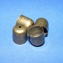 Bőrvég (454. minta/1 db) - 10x10 mm, Gyöngy, ékszerkellék, Ékszerkészítés,  Bőrvég végzáró (454. minta) - bronz színben  Mérete: 10x10 mm  Az ár 1 darab termékre vonatkozik...., Alkotók boltja
