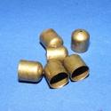 Bőrvég (454/A minta/1 db) - 8x8 mm, Gyöngy, ékszerkellék, Ékszerkészítés,  Bőrvég végzáró (454/A minta) - bronz színben  Mérete: 8x8 mm  Az ár 1 darab termékre vonatkozik.  , Alkotók boltja
