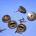 Kitűző alap (411/B minta/1 db) - tiszti patent, Gyöngy, ékszerkellék,  Kitűző alap (411/B minta) - tiszti patent - ragasztható - antik bronz színben  A pillangó tár..., Alkotók boltja