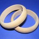 Fa karperec alap (73x20 mm/1 db), Gyöngy, ékszerkellék,  Fa karperc alap - natúr kivitelben  Mérete: 20 mm (szélesség) x 73 mm (belső átmérő)  Az á..., Alkotók boltja
