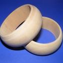 Fa karperec alap (73x30 mm/1 db), Gyöngy, ékszerkellék,  Fa karperc alap - natúr kivitelben  Mérete: 30 mm (szélesség) x 73 mm (belső átmérő) Az á..., Alkotók boltja