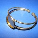 Fém karkötő alap (1. minta/1 db) - arany, Gyöngy, ékszerkellék,  Fém karkötő alap (1. minta) - egy tárcsás - arany színbenNikkel-, kadmium-, ólommentes  Kark..., Alkotók boltja