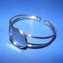 Fém karkötő alap (2. minta/1 db) - platinum, Gyöngy, ékszerkellék,  Fém karkötő alap (2. minta) - egy tárcsás - platinum színbenNikkel-, kadmium-, ólommentes  K..., Alkotók boltja