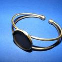 Fém karkötő alap (3. minta/1 db) - bronz, Gyöngy, ékszerkellék,  Fém karkötő alap (3. minta) - egy tárcsás - bronz színbenNikkel-, kadmium-, ólommentes  Kark..., Alkotók boltja