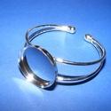 Fém karkötő alap (5. minta/1 db) - ezüst, Gyöngy, ékszerkellék,  Fém karkötő alap (5. minta) - egy tárcsás - ezüst színbenNikkel-, kadmium-, ólommentes  Kar..., Alkotók boltja