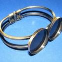 Karkötő alap (201. minta/1 db), Gyöngy, ékszerkellék,  Karkötő alap (201. minta) - két tárcsás - antik bronz színben  Mérete: 62x46x13 mm A tárcsa..., Alkotók boltja