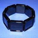 Karkötő alap (205. minta/1 db), Gyöngy, ékszerkellék,  Műanyag karkötő alap (205. minta) - szögletes - fekete színben  A négyzet lapocskák mérete:..., Alkotók boltja