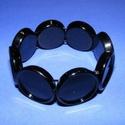 Karkötő alap (207. minta/1 db), Gyöngy, ékszerkellék,  Műanyag karkötő alap (207. minta) - kerek - fekete színben  A kör lapocskák mérete: 24x5 mm..., Alkotók boltja